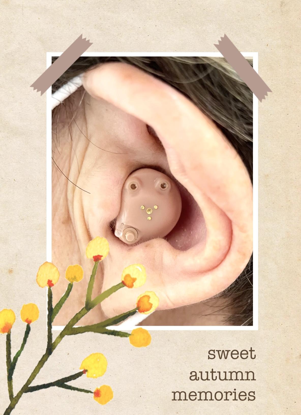 耳穴型は、マスクのジャマにになりません👍🏻